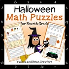 Halloween Common Core Math Puzzles - 4th Grade