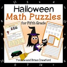 Halloween Common Core Math Puzzles - 5th Grade