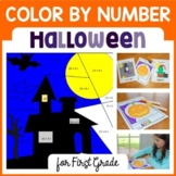 Halloween Common Core Picture Math (first grade)  Color by Number
