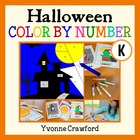 Halloween Common Core Picture Math (kindergarten) Color By Number