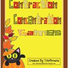 Halloween Contractions Concentration Games