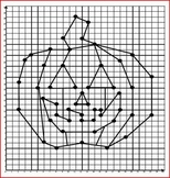 Halloween Coordinate Graphing / Ordered Pairs - Jack O' Lantern