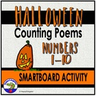Halloween Counting Poems for Interactive Smartboard