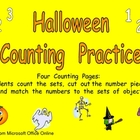 Halloween Counting Sets Independent Practice for Kindergarten