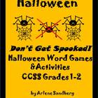 "Halloween ""Don't Get Spooked"" Word Games and Activities CC"