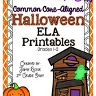 Halloween ELA Printables {Aligned to Common Core Standards}