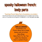 Halloween French Body Parts