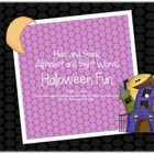 Halloween Fun Hide and Seek Alphabet and Sight Words Game