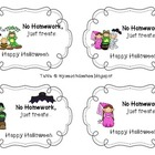 Halloween Homework Passes (No Homework - Just Treats)