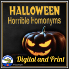Halloween Horrid Homonyms Worksheet
