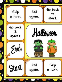 Halloween Hullabaloo Math Story Problems Game