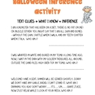 Halloween Inference Activity