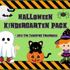 Halloween Kindergarten Pack ~ Printables + Game Cards Pre-K/K
