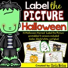 Halloween (Label the Picture) Includes NO PREP Printables!