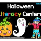 Halloween Literacy Center Activities- English