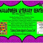 Halloween Literacy Centers- Common Core Aligned