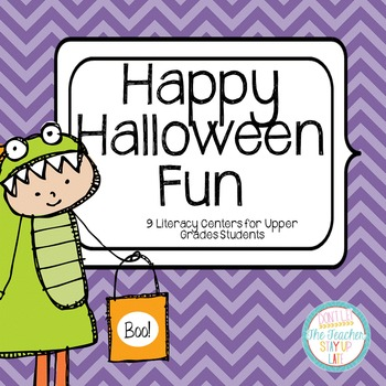 Halloween Literacy Centers - Comprehension and Word Knowledge