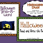 Halloween Literacy Duo!