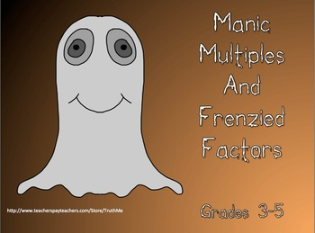 Halloween Manic Math Multiples and Factors