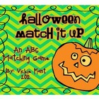 Halloween Match It Up {An ABC Matching Game}