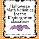 Halloween Math Activities for the Kindergarten classroom