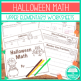 Halloween Math - Addition, Subtraction, Multiplication, Di
