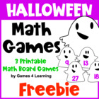 Halloween Math Board Games Freebie