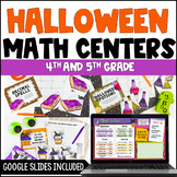 Halloween Math Centers 4th and 5th Grade Common Core Aligned