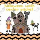 Halloween Math Common Core Center Packet