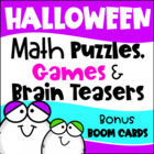 Halloween Math Games Puzzles and Brain Teasers
