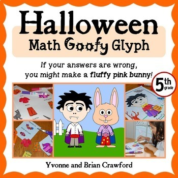 Halloween Math Goofy Glyph (5th and 6th grade)