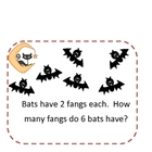 Halloween Math Journal Prompts Set 2