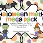Halloween Math Mega Pack (Halloween Themed Centers for Fir