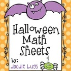 Halloween Math Practice Sheets