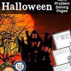 Halloween Math Problem Solving Pages - Addition, Subtracti