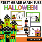 Halloween Math Tubs-First Grade Common Core Activities