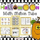 Halloween Math Tub Stations