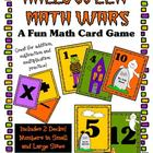 Halloween Math Wars Card Game (+, -, and x)