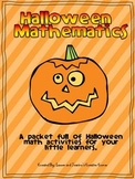 Halloween Math - Word Problems, Graphing and Number Activities