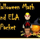 Halloween Math and ELA Worksheets Packet with Keys