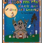 Halloween Math and Literacy Center Fun