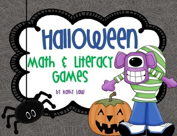 Halloween Math and Literacy Games