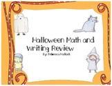 Halloween Math and Writing Review
