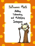 Halloween Math: Adding, Subtracting, and Multiplying Integers