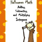Halloween Math with adding and multiplying integers