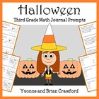 Halloween Mathbooking - Math Journal Prompts (3rd grade) -