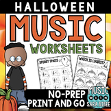 Halloween Mega Pack of Music Worksheets- 81 Pages!