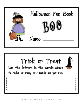 Halloween Mini Book