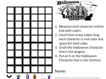 Halloween Non-Standard Measuring and Graphing