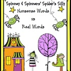 Halloween Nonsense Words Game: Spinney & Spinner Silly  Re